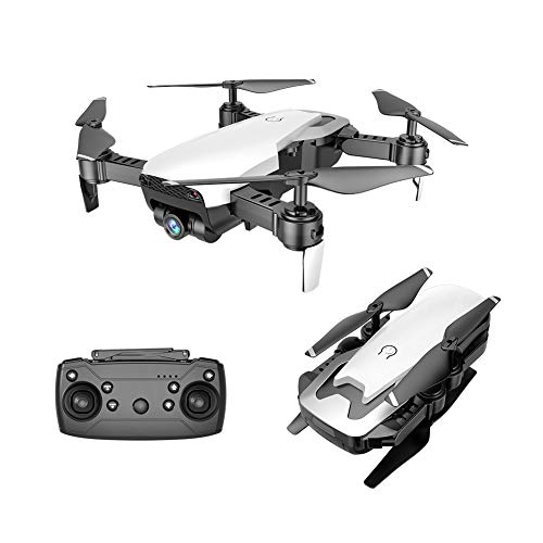 HappySDH Drohne mit Kamera HD 1080P,WiFi FPV Drohne mit 2000mAh Batterie, 360-Grad-Flip,Quick Shot, Live Video, Quadrocopter für Kinder und Anfänger (Weiß)