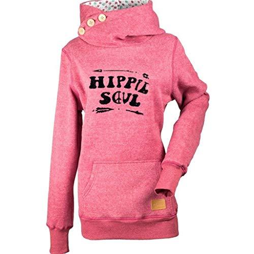 ❤️ AG&T ❤️ Lässige Damen Sweatshirt Druck Pocket Button Pullover Sweatshirt Bluse