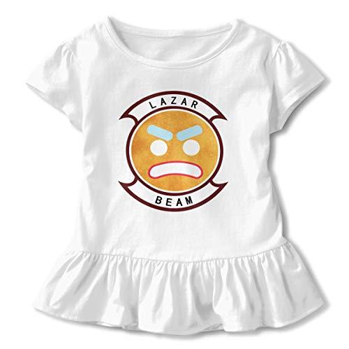 Sommer T-Shirt Lazarbeam T Shirt Casual Tee Shirts Für Kleinkind Mädchen Kurzhülse Kleidung Weiß 2 T ()