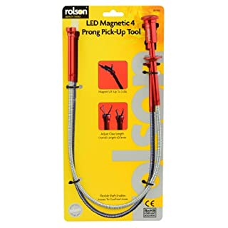 Rolson LED Claw and Magnetic Pick Up Tool