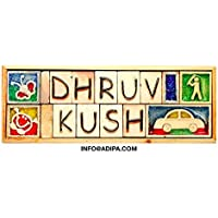 ADIPA Personalised Ceramic Handmade Nameplate with 2 Rows (A2/12.5-inch, Multicolour)