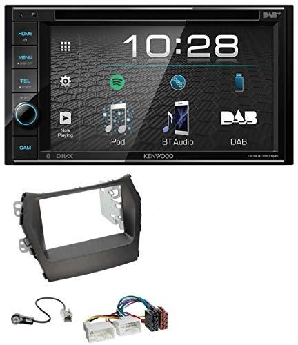 caraudio24 Kenwood DDX4019DAB USB DVD DAB MP3 Bluetooth 2DIN Autoradio für Hyundai Santa Fe ab 12 ohne Navi