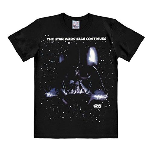 Logoshirt Star Wars - Darth Vader - La Saga Continúa Camiseta - Negro - Diseño Original con Licencia, Talla L