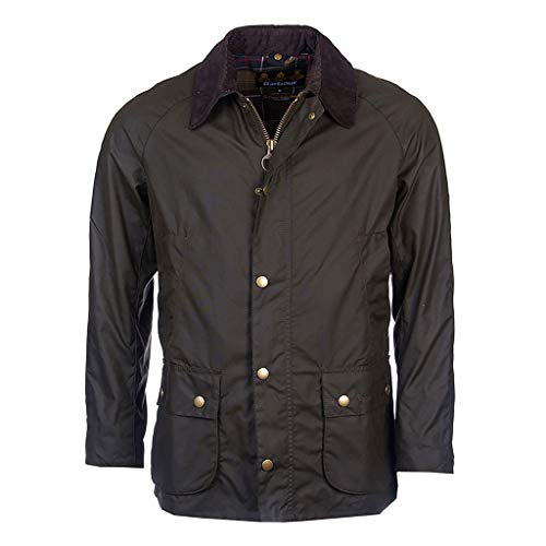 Barbour Giacca Cerata Verde Oliva Ashby Wax Jacket