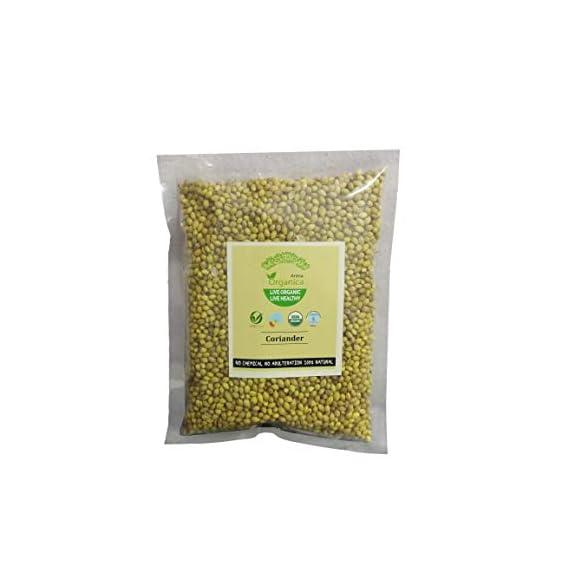 Arena Organica Organic Coriander Whole Dhaniya Pack of 3 100gm Each