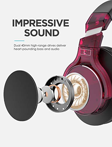 Mixcder E8 Aktive Geräuschunterdrückung Bluetooth Kopfhörer mit Mikrofon Active Noise Cancelling Kopfhörer Drahtloser Über-Ohr-Kopfhörer mit Stereoton,Faltbar, Kabelloses Headset mit Tiefem Bass - 2