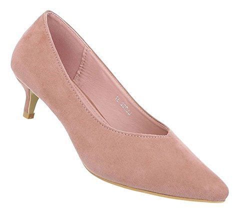 Damen Schuhe Pumps Klassische Altrosa 39