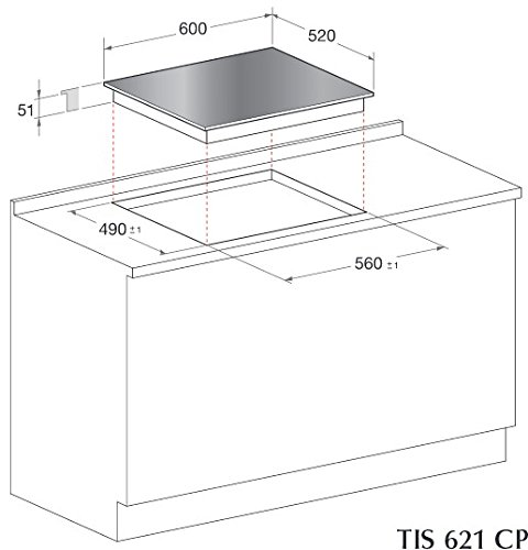 Scholtes TIS 621 CPT L plaque - plaques (Intégré, Induction, verre-céramique, Noir,...