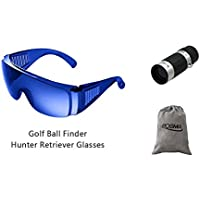 posma sgg-020b buscador de pelota de Golf Hunter retriever gafas + Bundle Set Golf telémetro Mini bolsillo Monocular de alta definición + franela bolsa de almacenamiento/bolsa de regalo x 1pc