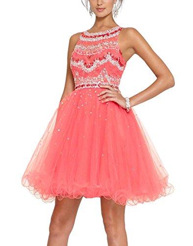 Bridal_Mall -  Vestito  - linea ad a - Donna Corallo