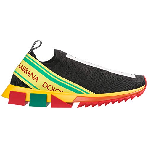 Dolce&Gabbana Herren Sorrento Sneaker Nero/Giallo 42.5 EU Dolce Gabbana Sneakers