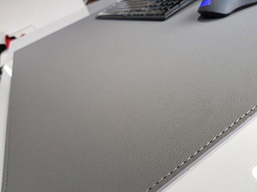 Grau Schreibunterlage (Schreibtischunterlage Soft Lux Leder 60 x 40 Grau)