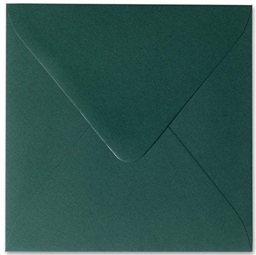 25 Briefumschläge 10,0 x 10,0 cm 100 x 100 mm Tannen Grün Verschluss: feuchtklebend Grammatur: 120 g/m² (10 Briefumschläge 100)
