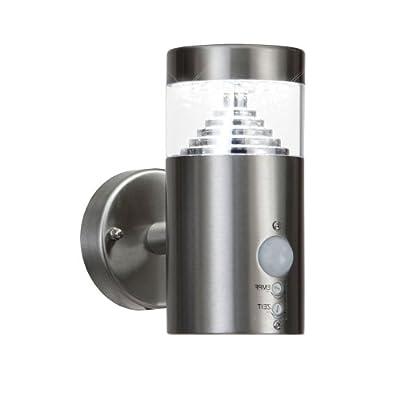 Grafner® Design LED SMD Edelstahl Wandleuchte mit Bewegungsmelder Wandlampe außen und innen IP44