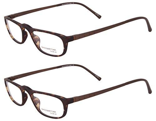 Bass Baritone Rimmed Rectangular Men's Spectacle Frame - G007X2|50 mm (Pack of 2)