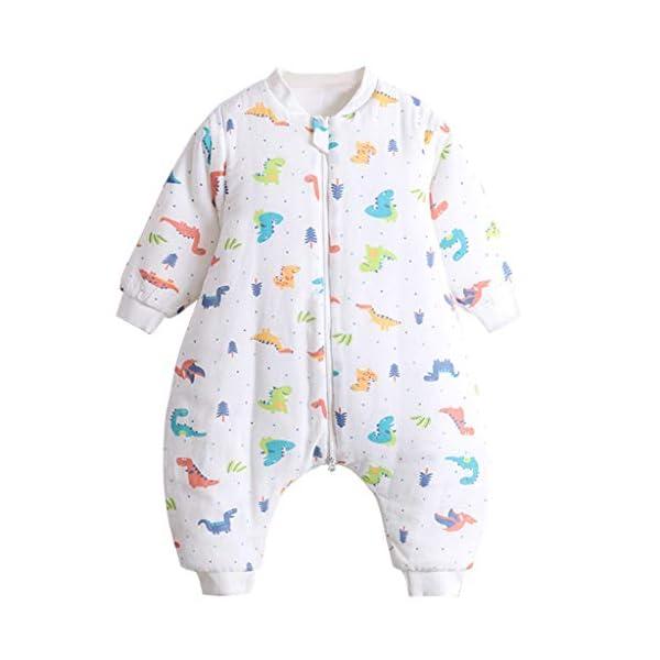Saco de Dormir para Bebés 3 Tog, Saco de Dormir Niños Pequeños con Mangas Desmontables Piernas con Cierre de Cremallera Separado
