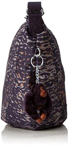Kipling Damen Nille Schultertasche, 48x30x0.1 cm Mehrfarbig (WATER Camo)