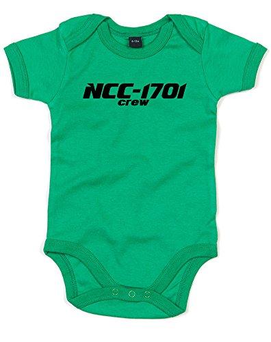 NCC-1701 Starship Crew, Gedruckt Baby Strampler - Grün/Schwarz 3-6 Monate (Crew Gedruckt)