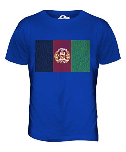 CandyMix Afghanistan Kritzelte Flagge Herren T Shirt Königsblau