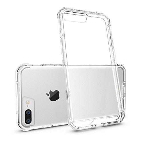Coque Apple iPhone 7 [Zanasta Designs] Case Ultra Hybrid Silicone Back Cover Premium TPU-Bumper Couverture Transparence Antichoc Transparence