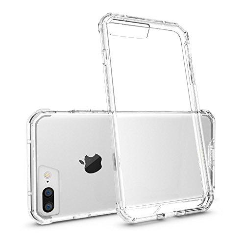 Coque Apple iPhone 7 [Zanasta Designs] Case Ultra Hybrid Silicone Back Cover Premium TPU-Bumper Couverture Transparence Antichoc Transparence