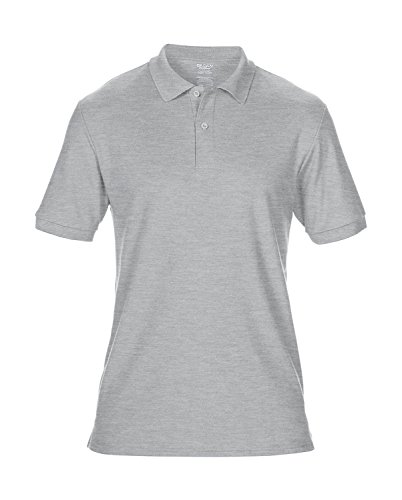 Gildan Komfort Sport-Poloshirt Herren Leicht taillierte Passform  grey-heather