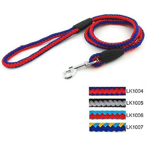 Rifornimenti dell'animale domestico cane corda guinzaglio cane trazione della corda 10mm nastro per bene tutto l'hove , red