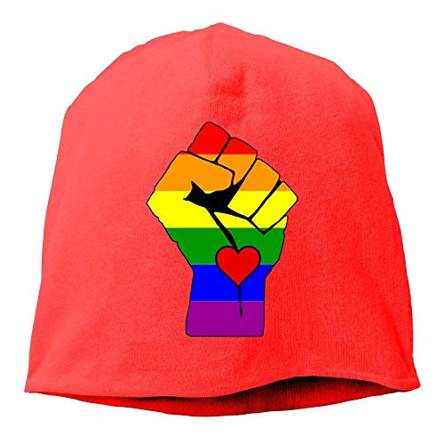 vbcnmbnv Arsmt Beanies Hat Winter Knit Cap Skull Cap Supprt Gay Lesbian Warm Cuff Unisex