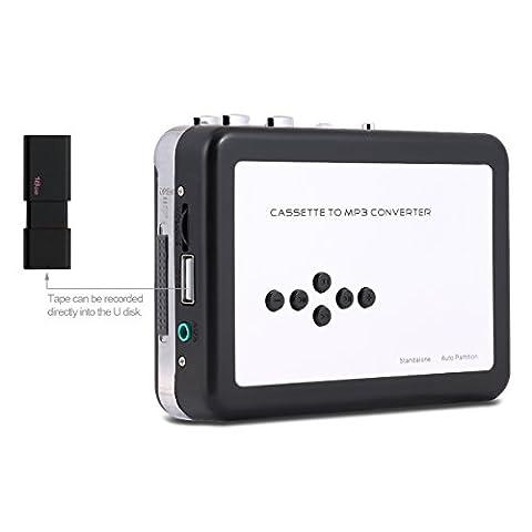 Reshow USB-Kassette/ Kassettenspieler-Konverter Konvertiert in MP3 in (File Cassetto Sistema)