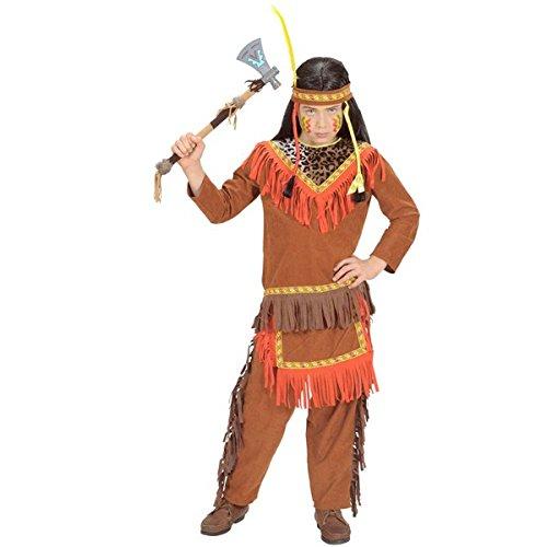 Indianer Junge Boy Kostüm Eingebohrener Ureinwohner amerikanisch Jäger Sammler (140)