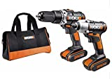Worx Twin Pack 20-Volt Max Lithium-Ion Cordless Drill and Impact Driver Combi Kit. WX372 & WX290