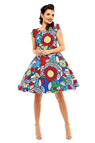 Looking Glam Retro Vintage Pin-Up 50 Jahre Kleid für Frauen Pop-Kunstdruck Pop Kleid