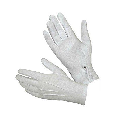 BakeLIN 1Pair Weiß Tuxedo Ehrengarde Parade Männer Inspektion Formelle Handschuhe (Handschuhe Weiße Zauberer)