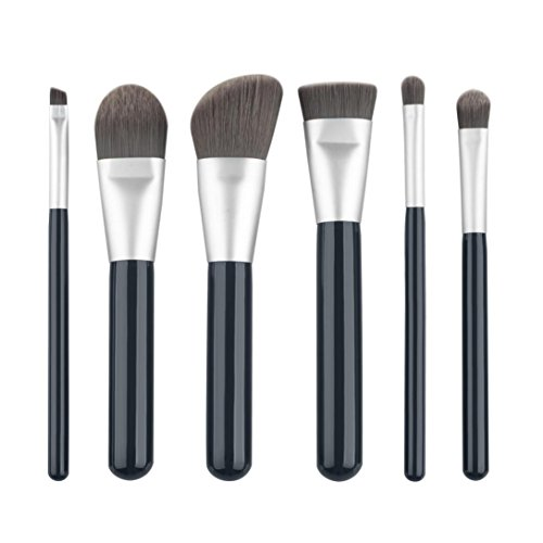 kingko® 6 pièces / set pinceaux de maquillage; Mini Fondation Sourcils Eyeliner Fard à joues Correcteur cosmétiques Brosses