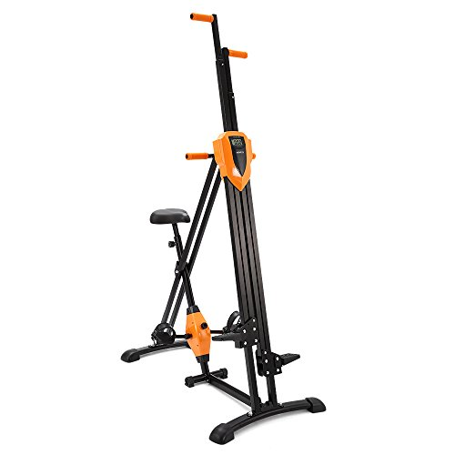 zusammenklappbar digitaler Zähler Fitness 4x Vertical Climber Treppensteigen