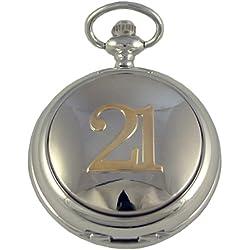 A E Williams Men's 21st Two Tone Mechanical Pocket Watch 4961B21Ttsk
