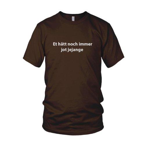 Et hätt noch immer jot jejange - Herren T-Shirt Braun