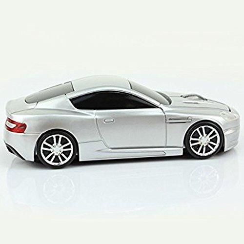 spectronix Aston Martin geformte Kabelloser Sport Auto Maus Optische & Ergonomisches Design mit Nano-USB-Empfänger 10Meter Reichweite 2,4GHz Wireless Maus 1600dpi für Laptops und PCs 4leuchtende Farben (Pc-maus Auto)