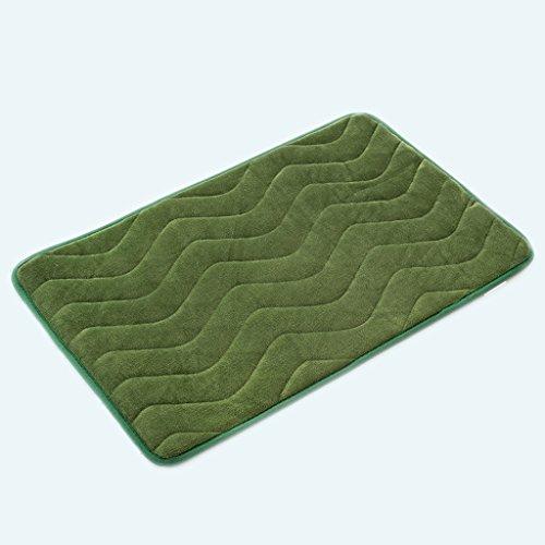 KUN PENG SHOP Accès à la porte Salle de bain Salle de bain Salle de bain Toilette Imperméable Tapis anti-mat A+ (Couleur : Le vert foncé)
