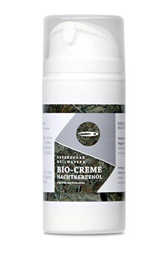 Bio Creme mit Nachtkerzenöl 100ml - Hautpflege und Hautschutz bei trockener, juckender, schuppiger, geröteter Haut - ohne Cortison - 100% natürliches Deferegger Heilwasser -