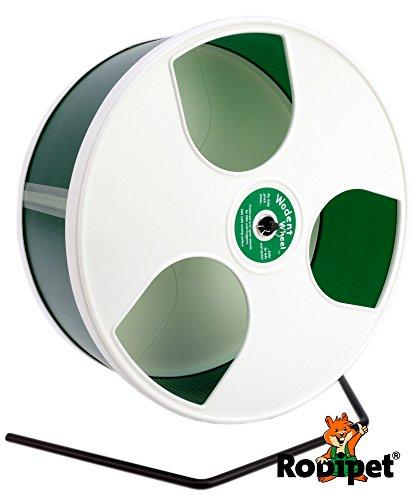 ø 30 cm Hamsterlaufrad Wodent Wheel weiss/grün