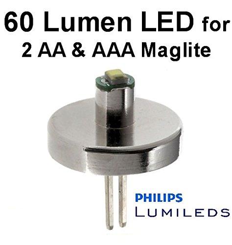 Mini Maglite AA LED Upgrade Birne Lumileds 60 Lumen 0.5 watt Taschenlampe Modul, UpLED