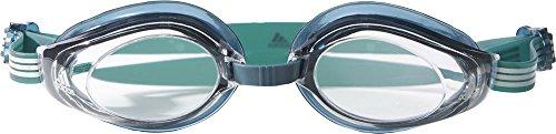Adidas Aquastorm 1PC - Gafas anticloro, color verde / transparente, talla M