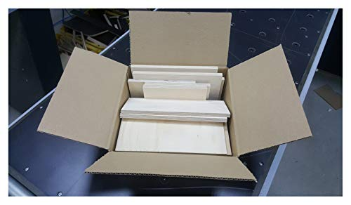 2-3kg Reste Brettchen Sperrholz 3mm-12mm stark Multiplexplatten Holz Brett Zuschnitte Paketgröße S: ca. 25 x 25 x 10 cm