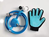 VISMIINTREND Pet Dogs and Cats Shower Sprayer Kit with Silicon Grooming Glove