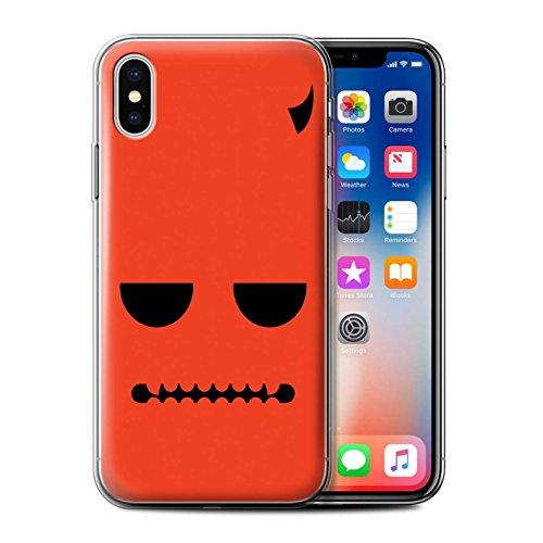 Stuff4 Gel TPU Hülle / Case für Apple iPhone X/10 / Teufel Muster / Halloween Zeichen Kollektion Teufel