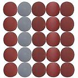 BUPADEALER - Disco de lija para lijadora con gancho redondo (25 unidades, 800/1000 / 1500/2000 / 3000 pulgadas)