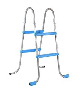 Piscinas Toi 4839 Escalier de 4marches pour piscines amovibles, 56x70x100 cm, Blanc