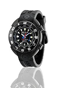 Sector Men's Watch R3221178025 In Collection Shark Master 1000Mt, 3 H and S, Automatic, with Black Dial and Strap
