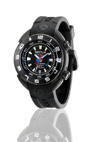 Sector Herren-Armbanduhr XL Analog Automatik Kautschuk R3221178025